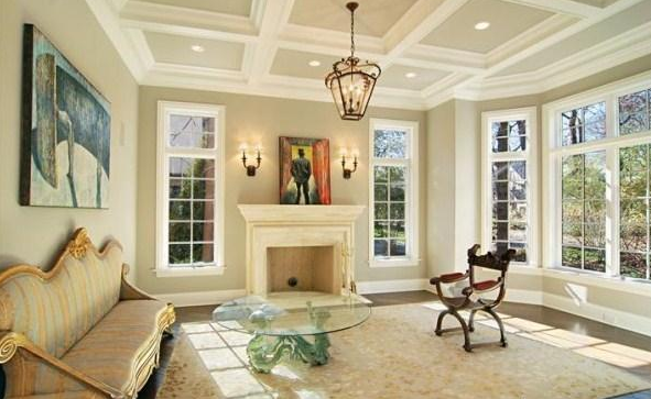 kumtaşı rengi duvar boyası ile hazırlanan ev dekorasyonu ...