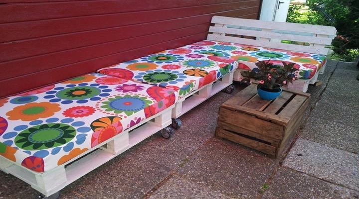 Palet Bahçe Koltukları Yapımı