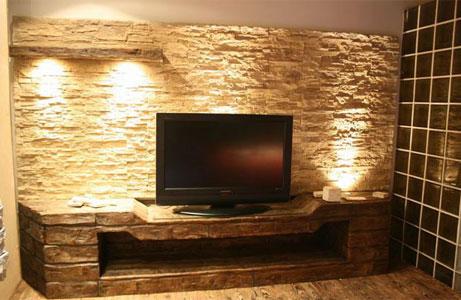 Plazma Arkası Taş Kaplama | Tv Arkası Taş Kaplama