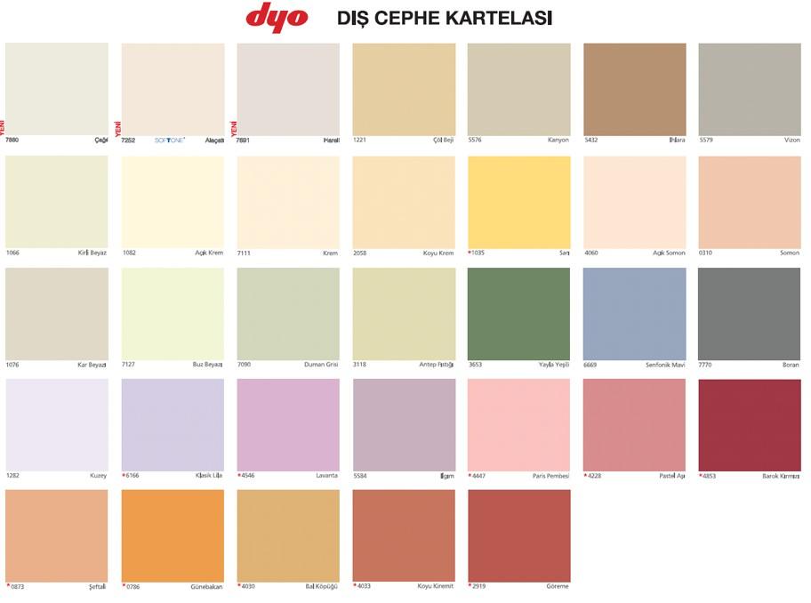 Açık Kum Beji Dyo Boya Katalog