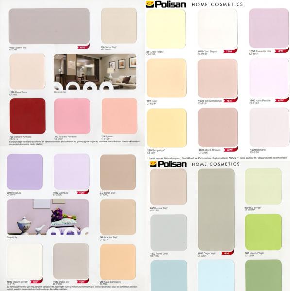 Polisan Renk Kartelası ( Kataloğu ) | Dekorasyon Önerileri ve ...