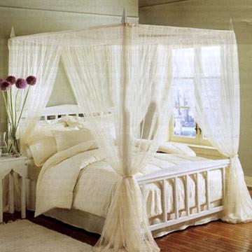 Sade beyaz renkli yatak cibinlik modeli - Kadın Moda