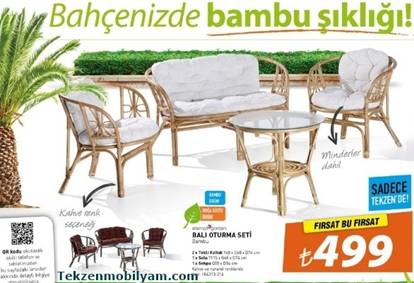 tekzen balkon oturma grubu bambu 2015 mayıs katalog indirimi ...