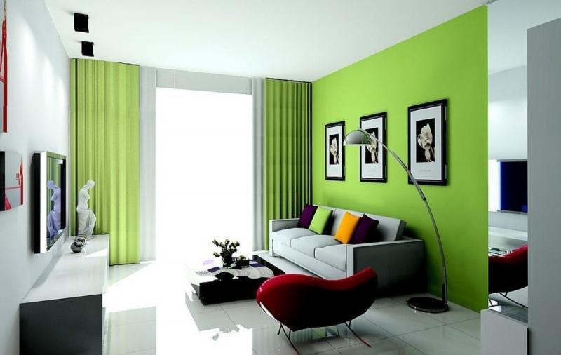 trend salon iç cephe duvar boyası renkleri ve moda mobilya ...