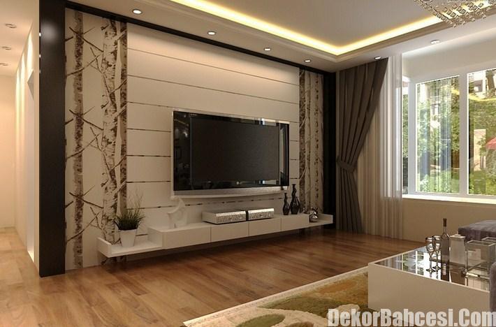Tv Arkası Duvar Kağıtları Tasarımları