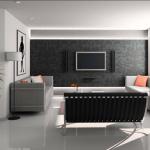 Tv Duvar Ünitesi Arkası Duvar Kağıdı Ve Kaplama Örnekleri