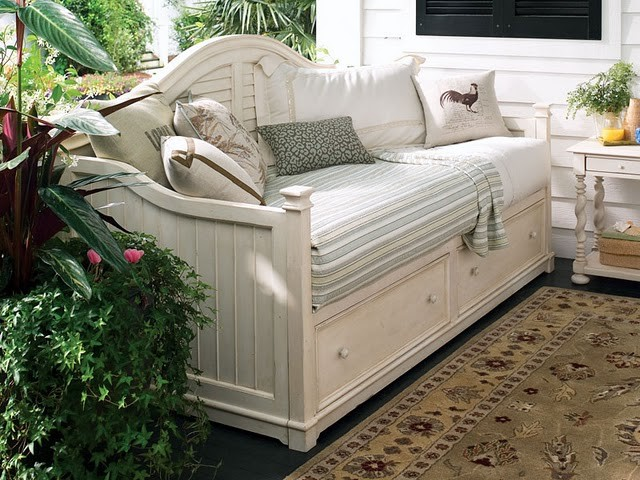 beyaz ferforje daybed-yatak | Dekorstyle