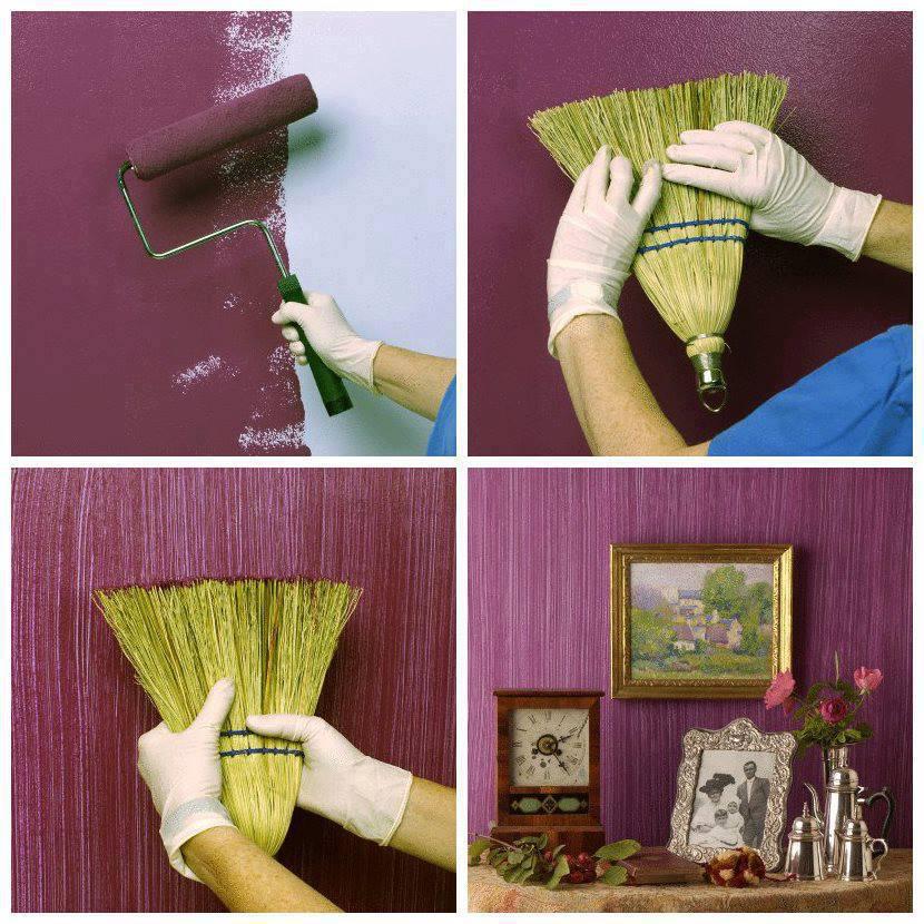 Bahia Dekorasyon: Süpürge ile duvar boya efekti