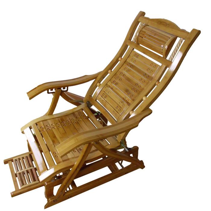 Bambu-bambu-sallanan-sandalye-recliner-öğle-mutlu-yaşlı ...