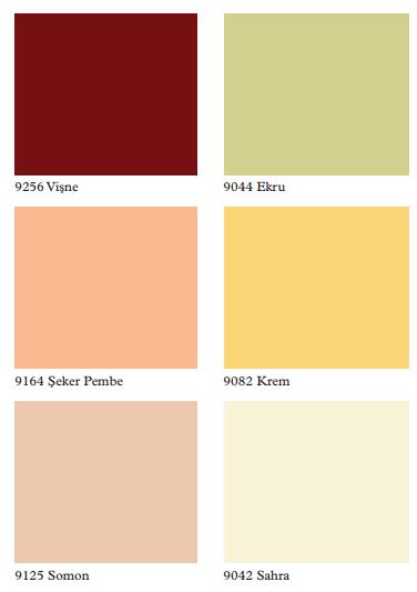 en şirin iç cephe duvar boyası renkleri kartelası kataloğu ...