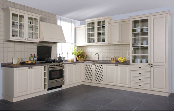 Klasik Beyaz Mutfak Dolabı Modelleri