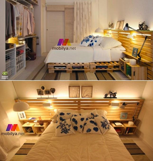 paletmobilyalar: Palet Yatak odası Mobilyaları