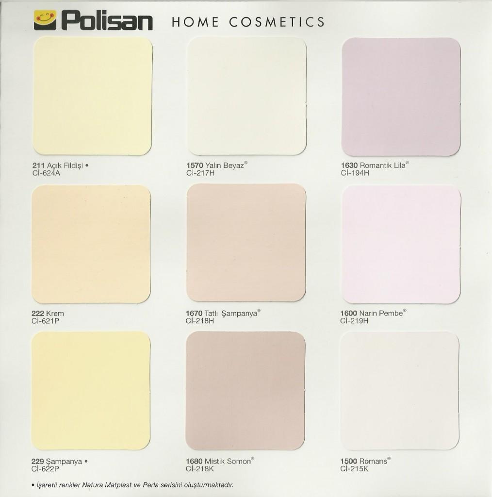 polisan inci rengi - Boya Renkleri Kartelası