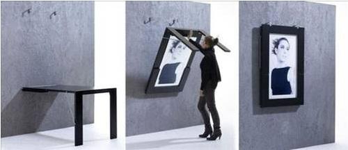 Tabloya dönüşen masa - İlginç ev mobilya tasarımlar