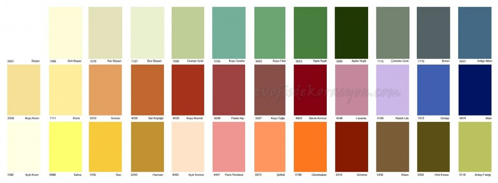 trend dyo renk kataloğu