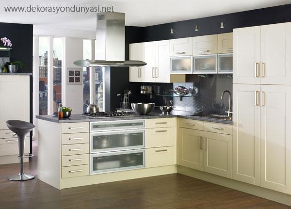 Köşeli Mutfak Dolabı Modelleri - Dekorasyon Dünyası