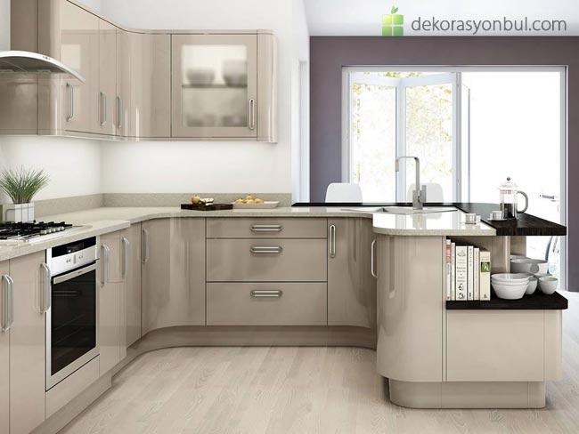 Köşeli Mutfak Dolapları Modelleri - Dekorasyon Bul