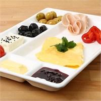 Lucena New Yedi Bölmeli Kahvaltı Tabağı - Beyaz Fiyatı