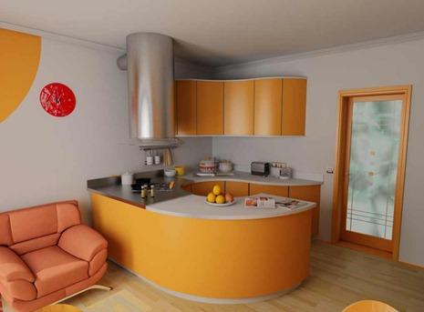 studio evler için tasarlanmış mini sarı turuncu renklerde ...