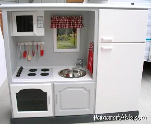 Tv Büfesini Çocuklar İçin Harika Bir Mini Mutfağa Dönüştürün!