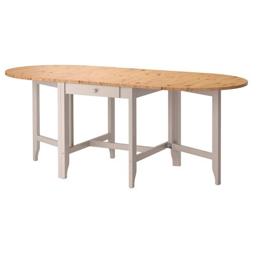 GAMLEBY katlanabilir yemek masası açık antika vernik-gri 67 ...