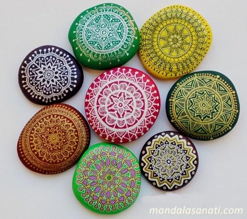 Mandala taş boyama - yepyeni fikirleriyle