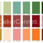 2015 Filli Boya Dış Cephe Renk Seçenekleri Kartelası - 9 ...