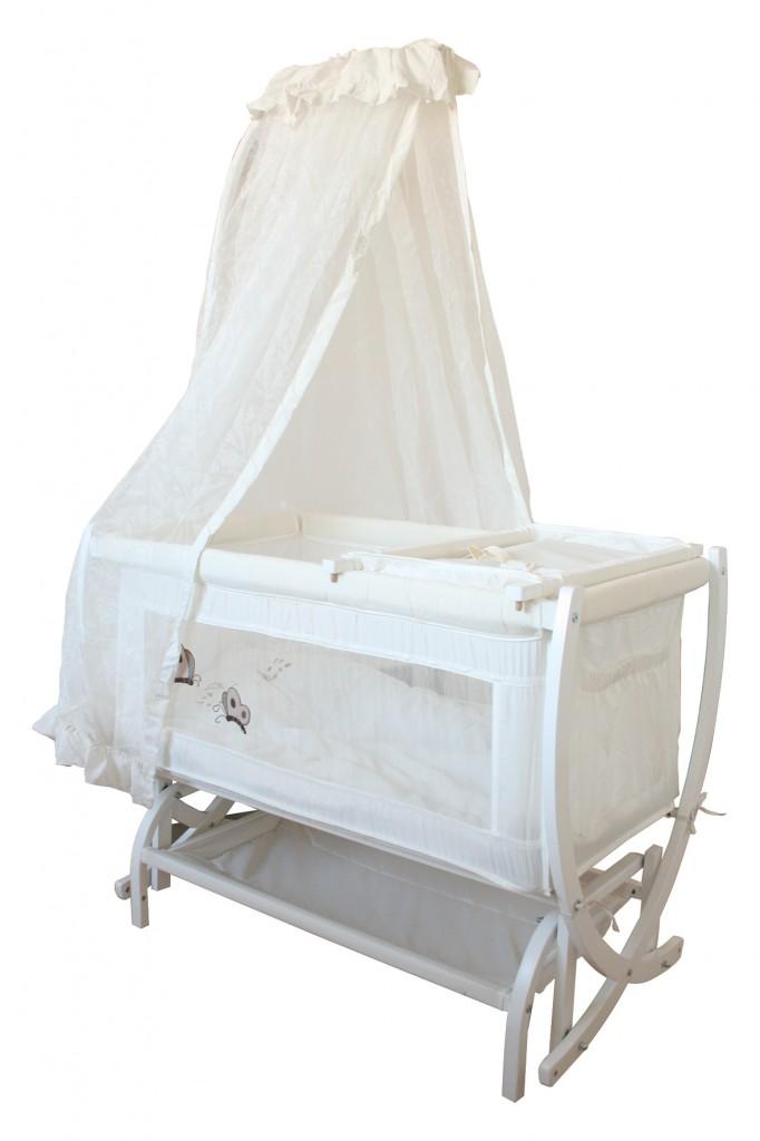 Crest Beyaz Ahşap Bebek Beşiği CR - 798   Crest Baby   Ahşap ...
