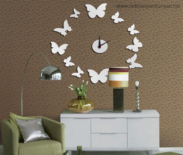 Dekoratif Duvar Saatleri Modelleri - Dekorasyon Dünyası