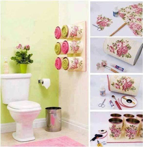 Kolay yapılabilir kullanışlı banyo aksesuarı | Ev Dekorasyonu ...