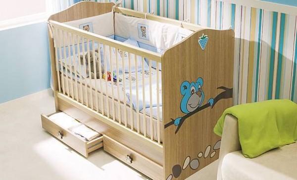 sevimli-ahşap-bebek-beşik-modeli   Mobilya Dekorasyon