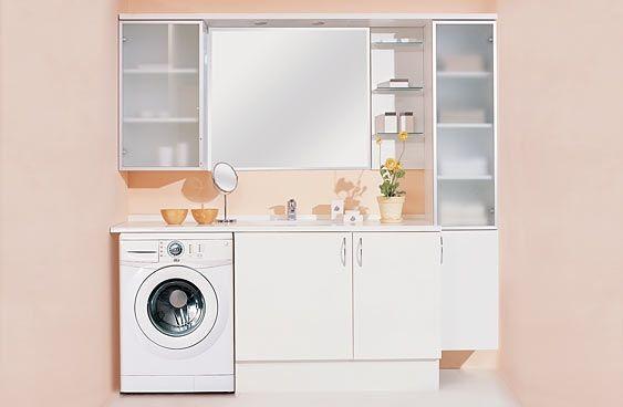 Banyo Dolapları Çamaşır Makineli