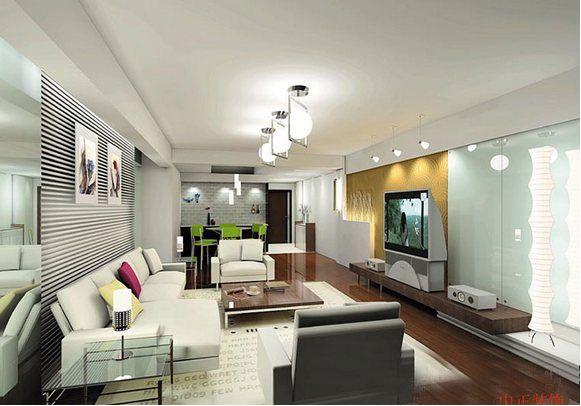 beyaz salon dekorasyon örneği - ev dekorasyonu dizaynı ...