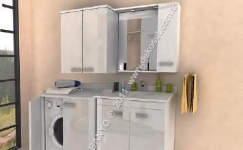 Çamaşır makinalı banyo dolapları – Banyo Dolapları Modelleri ...