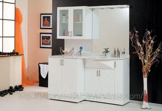 Çamaşır makineli dolap cm banyo dolabı eren banyo mobilya (ID ...