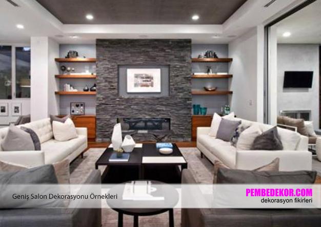Geniş Salon Dekorasyonları | Pembedekor