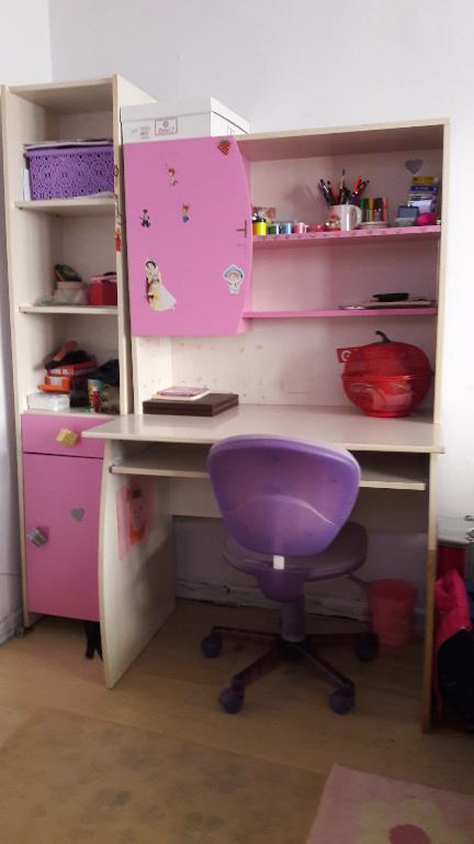 Pembe Çilek Mobilya Çalışma Masası - Dekopasaj.Com