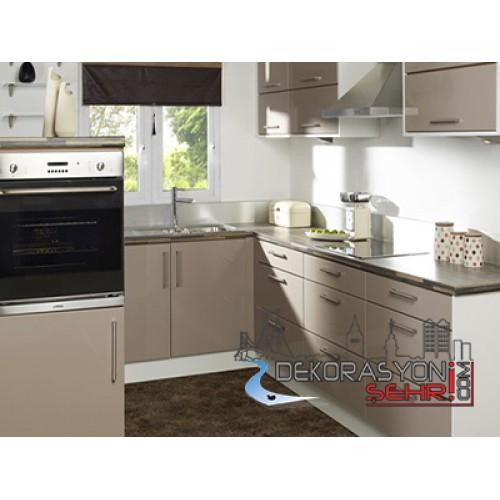 akrilik; akrilik beyaz mutfak dolapları; akrilik beyaz mutfak ...