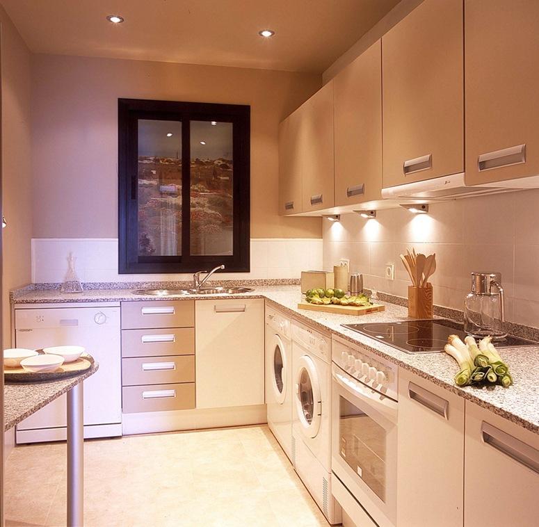Beyaz Küçük Mutfak Modelleri - Ev Dekorasyonu