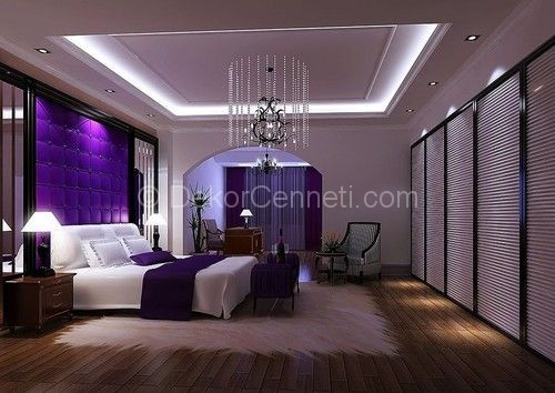 Mor Yatak Odası Dekorasyonu - 29 Ocak 2017 - DEKORCENNETİ.COM