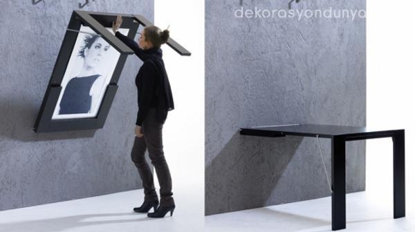 Duvara Monte Masa Modelleri - Dekorasyon Dünyası