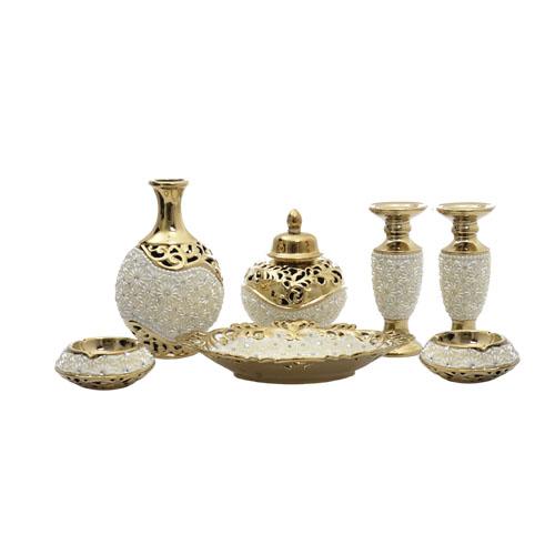 Ev Aksesuarları Mağazası - Dekoratif Ürünler - Gold 7 parça ...