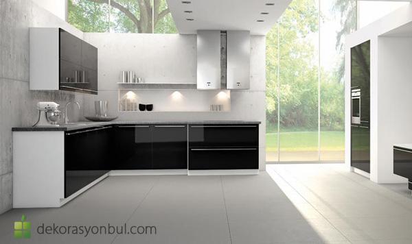 Siyah Beyaz Mutfak Modelleri - Dekorasyon Bul