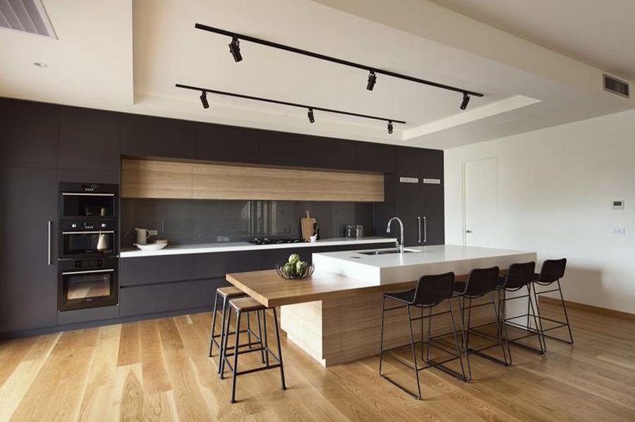 Son Zamanların Modası Siyah Beyaz Mutfak Dekorasyonu - Dekoloji