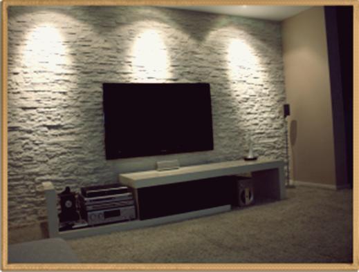 Tv Arkası Taş Kaplama | Tv Arkası Taş