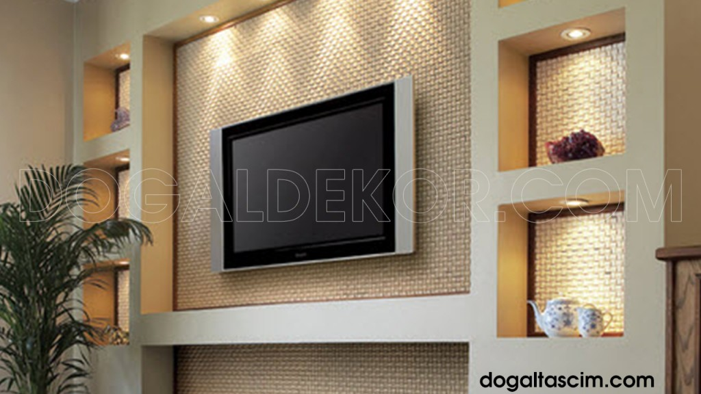 TV TELEVIZYON UNITESI ARKASI DOGAL TAS DUVAR KAPLAMA | Doğal ...