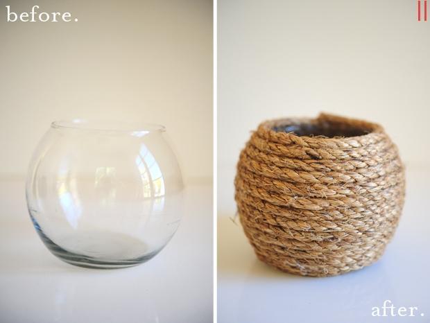 Evde Hasırdan Vazo Yapımı – Resimli Anlatım - makalepark.com