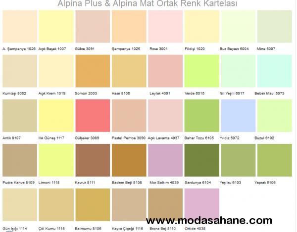 2015 Boya Badana Renkleri ve Renk Kataloğu › Ev Dekorasyon ...