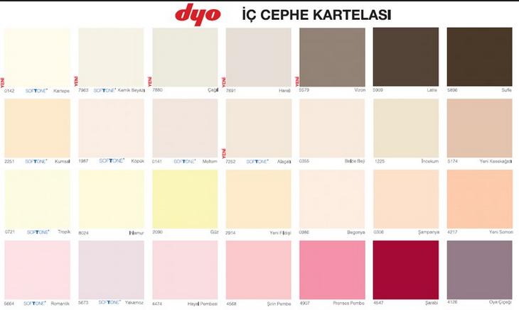 Dyo Boya Badana Renkleri Kartelası | Dekorasyon Fikirleri ve ...