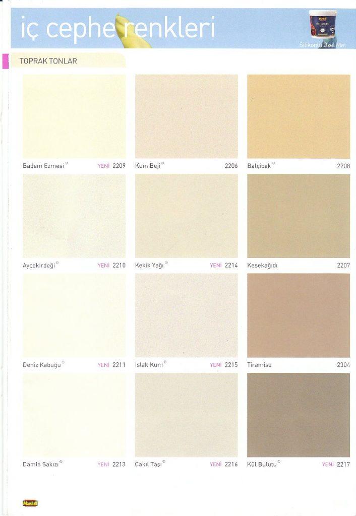 marshall renkler yesil tonlar | Uğur Yapı Malzemeleri
